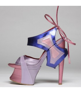 Butterfly metallic architectural shoes