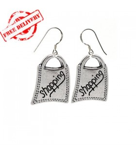 Shopping bag earrings