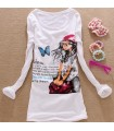 Fashion long sleeves t-shirt