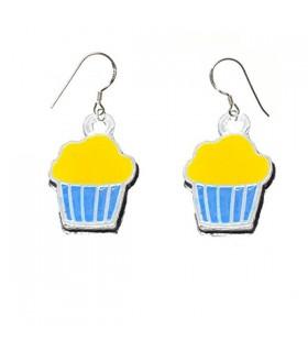 Boucles d'oreilles argent de muffin