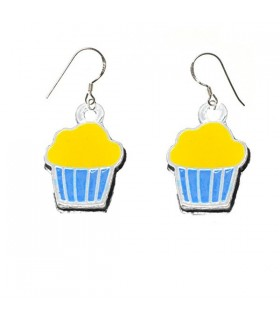Muffin silver earrings