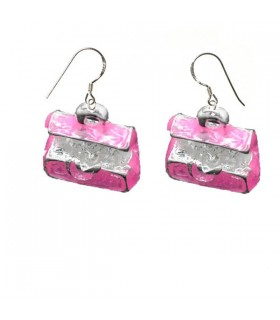 Pink treasure earrings
