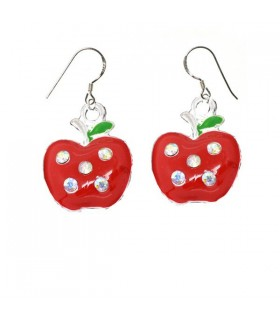 Juicy apple silver earrings