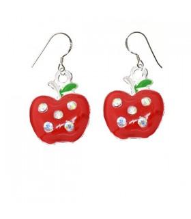 Juicy apple silver earrings