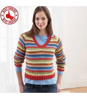 Chandail tricoté dépouillé