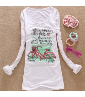 Bicycle long sleeves t-shirt