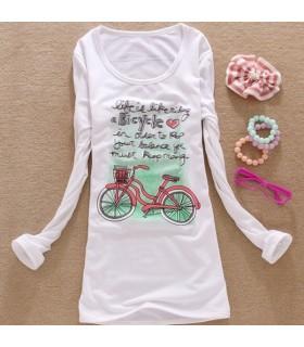 Langarm Shirt mit Fahrrad