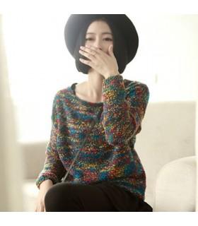 Chandail en tricot ethnique