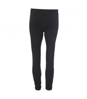 Black leggings ruched hem
