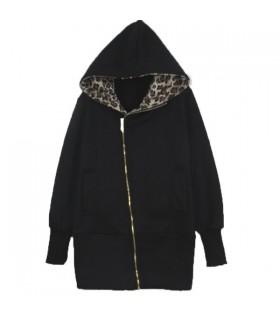 Leoparden Hoodie mit Reißverschluss