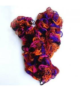 Ruffle crochet scarf