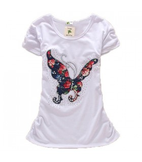 Butterfly slim short sleeve top