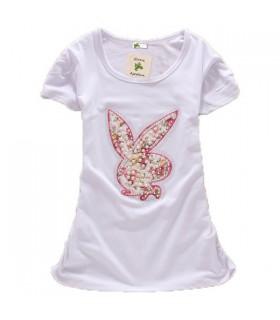 Jeannot lapin doux t-blouse de pochettes courte