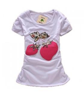 Süßes Erdbeeren Kurzarm-Top