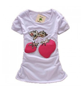 Sweet strawberries short sleeves t-shirt