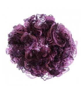 Elegante sciarpa viola arruffare