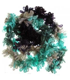 Sciarpa in lana super anello blu