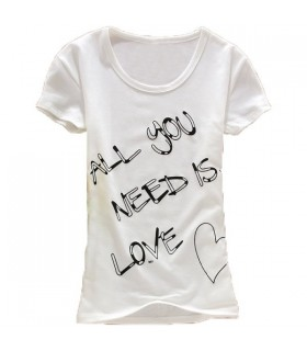 Fashion letter short sleeves t-shirt
