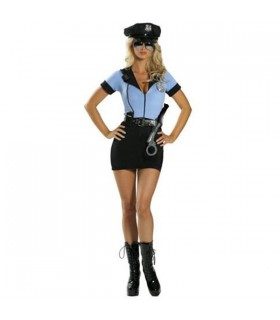 Hot mini-dress police woman costume