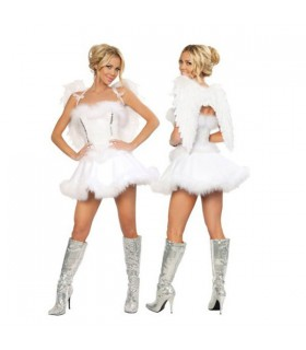 White angel feather costume