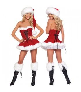 Flauschiges sexy Weihnachtsgirl Kostüm