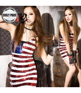 Robe paillettes style américain