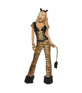 Langes Hosenkostüm mit Tigermuster