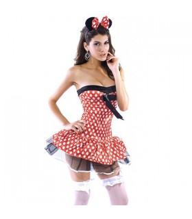 Costume de Minnie Mouse en pointillé