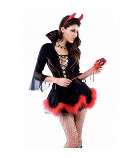 Schwarzes sexy Teufelchen Kostüm