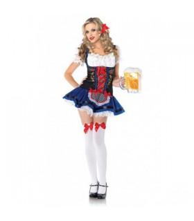 Blau rot weisses Oktoberfest Kostüm