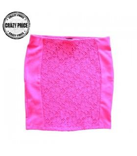 Fuchsia elastic skirt