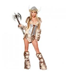 Femme viking de luxe costume