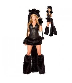 Deluxe schwarze Katze Kostüm