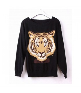 Tiger head sweater for women