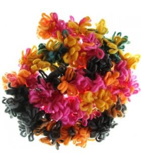 Super anello sciarpa di lana colorata
