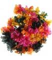 Écharpe superbe de laine  boucle colorée