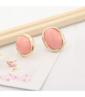 Boucles d'oreilles mode ovale rose