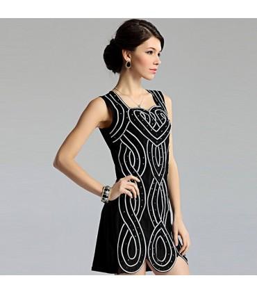 70cecdce6b3 Schwarz weisses italienisches Kleid Größe Einheitsgröße