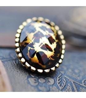 Orecchini moda leopard ovale