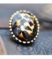Oval leopard fashion earrings