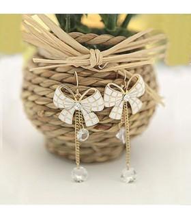 Orecchini bianco dolce prua