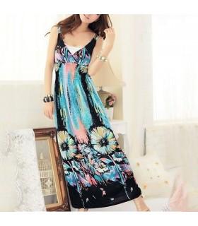 Romantisches himmelblau Maxi-Kleid