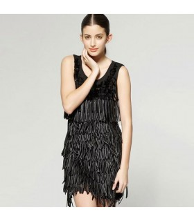 Black modern fashion dress