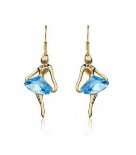 Boucles d'oreilles en ange bleu