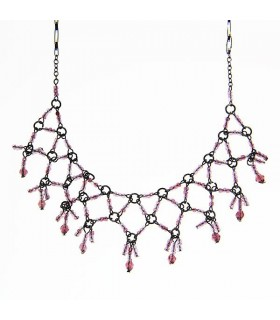 Baroque collar style necklace
