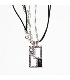 Rechteckige Halskette mit Steinen