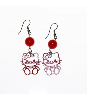 Hello kitty red earrings