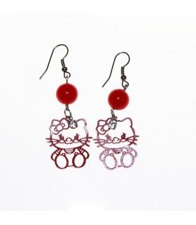 Hello kitty red earrings