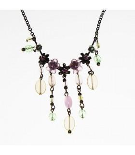 Collana di fiori e perle barocche