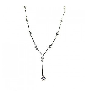 Flowers thin necklace